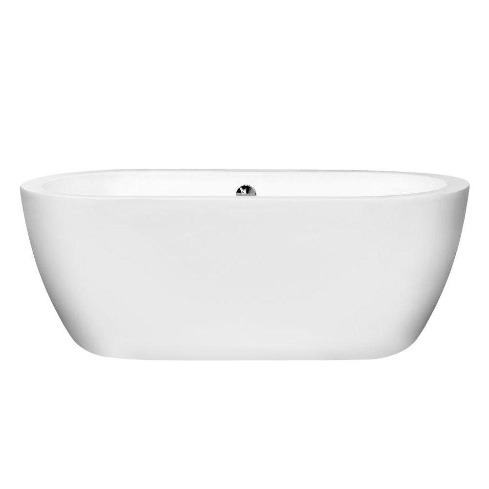 Wyndham Collection Soho 5 ft. Center Drain Soaking Tub in White ...