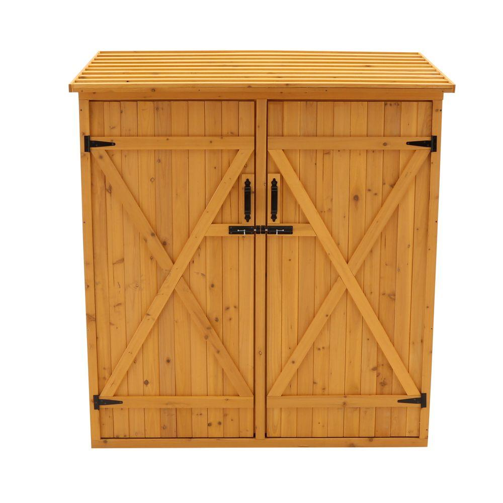 Leisure Season 4 ft. 11 in. x 2 ft. 7 in. x 5 ft. 4 in. Cypress Medium Storage Shed