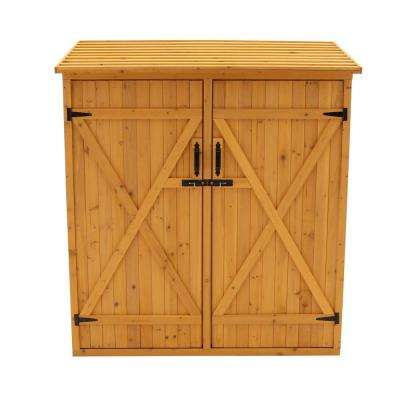 4 ft. 11 in. x 2 ft. 7 in. x 5 ft. 4 in. Cypress Medium Storage Shed