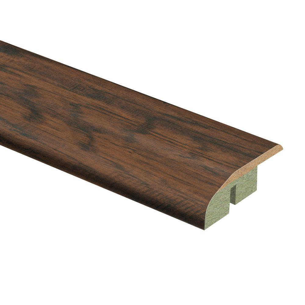 Zamma Coffee Handscraped Hickory 1/2 in. Thick x 1-3/4 in. Wide x 72 in. Length Laminate Multi-Purpose Reducer Molding
