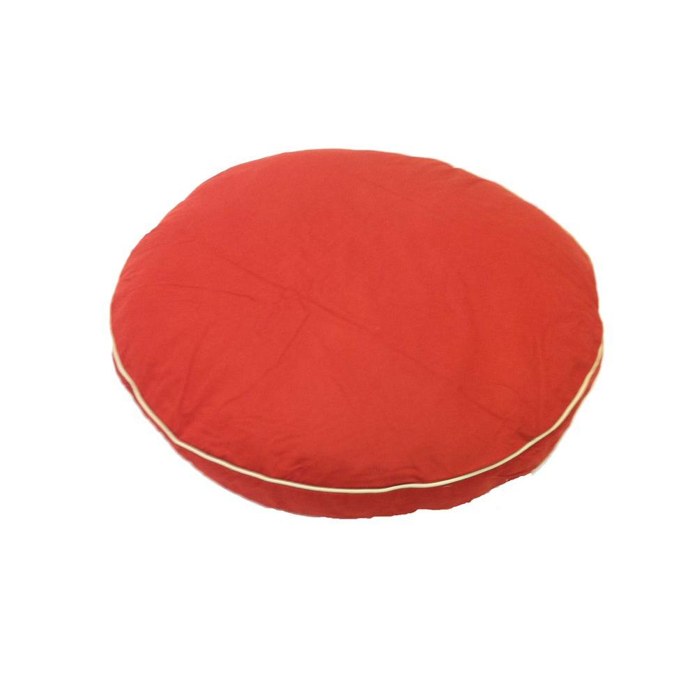 """null Medium Classic Twill """"Round-A-Bout"""" Bed - Red"""