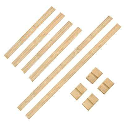 1 ft. x 6 ft. Decorative Euro Wood Fence Panel Top Kit