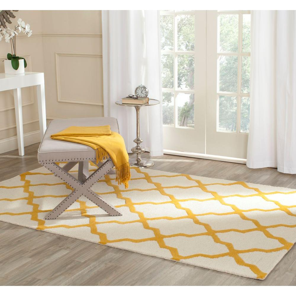 Cambridge Ivory/Gold 9 ft. x 12 ft. Area Rug