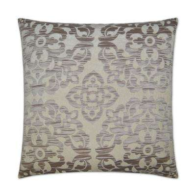 Monte Taupe Feather Down 24 in. x 24 in. Standard Decorative Throw Pillow