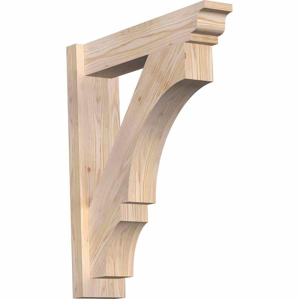 Ekena Millwork 6 in. x 28 in. x 24 in. Balboa Traditional Smooth Douglas Fir Outlooker