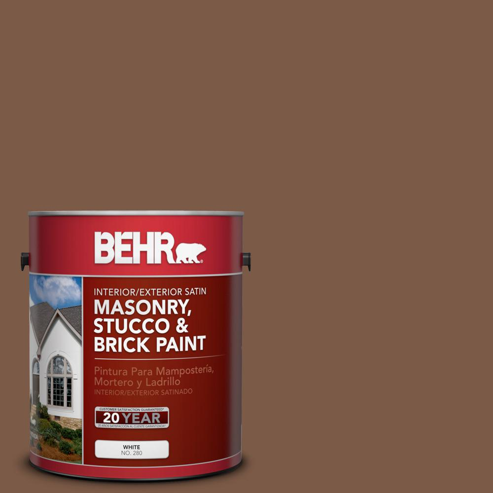 1 gal. #BXC-65 Outback Brown Satin Interior/Exterior Masonry, Stucco and Brick