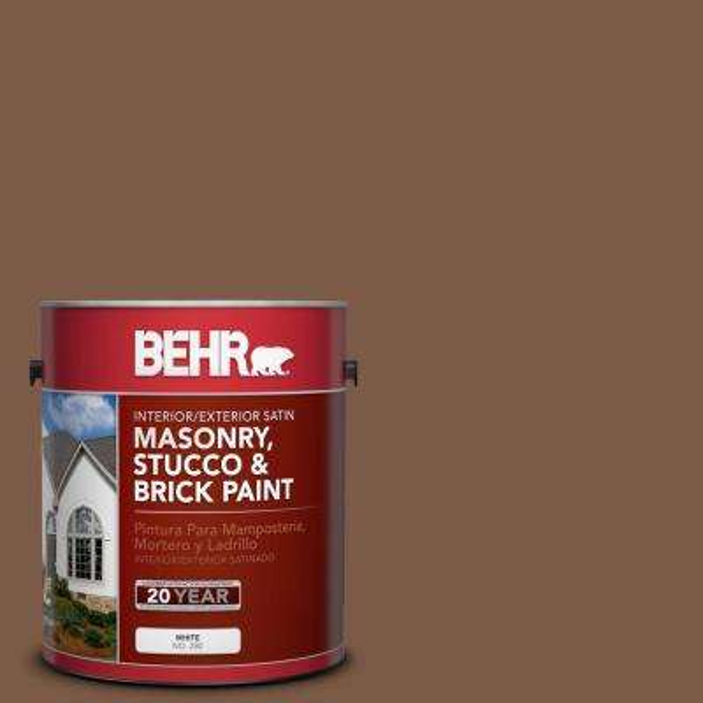1 gal. #BXC-65 Outback Brown Satin Interior/Exterior Masonry, Stucco and Brick Paint