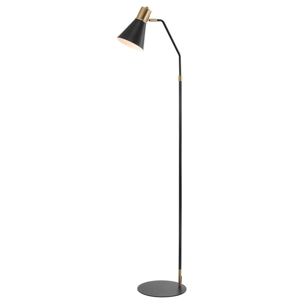 Modern Metal Led Task Floor Lamp Black