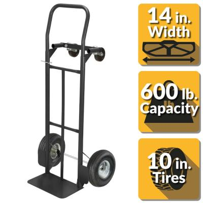 600 lbs. Capacity 2-in-1 Convertible Hand Truck