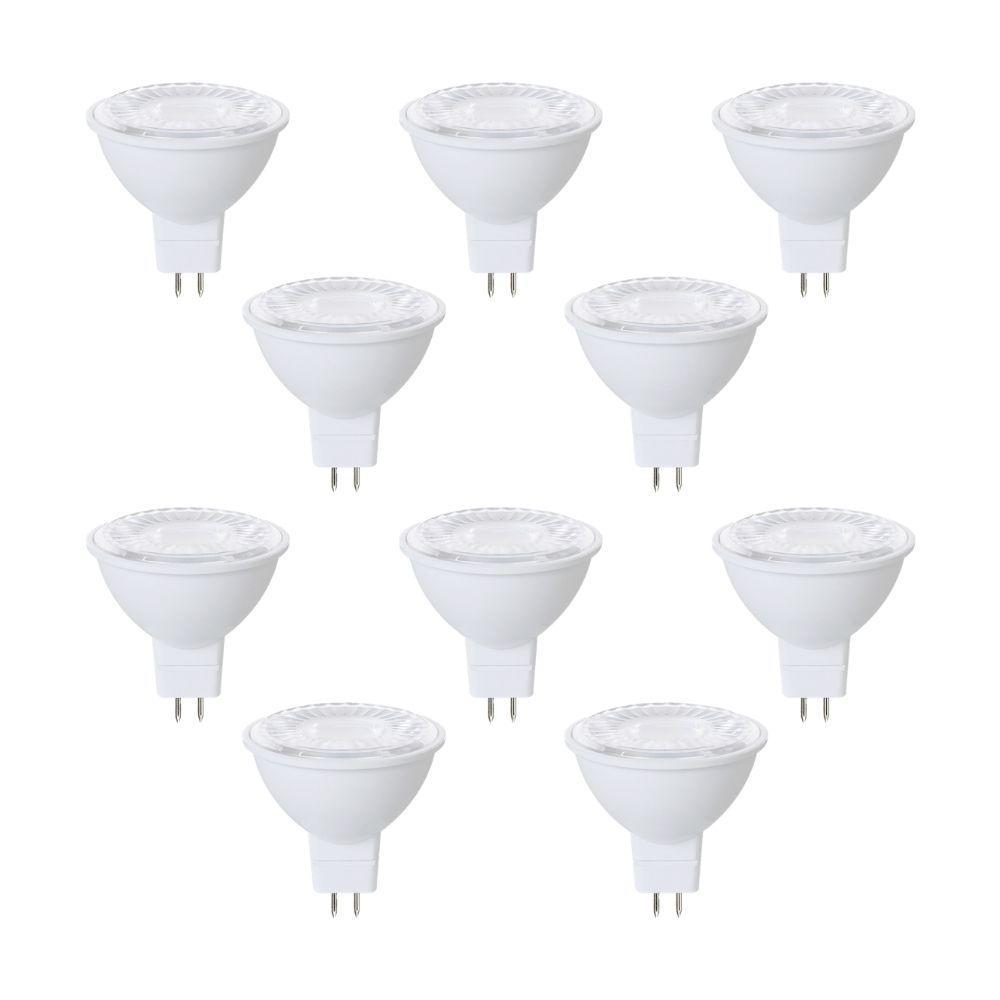 50-Watt Equivalent MR16 ENERGY STAR and Dimmable LED Light Bulb in Soft White 3000K (10-Pack)