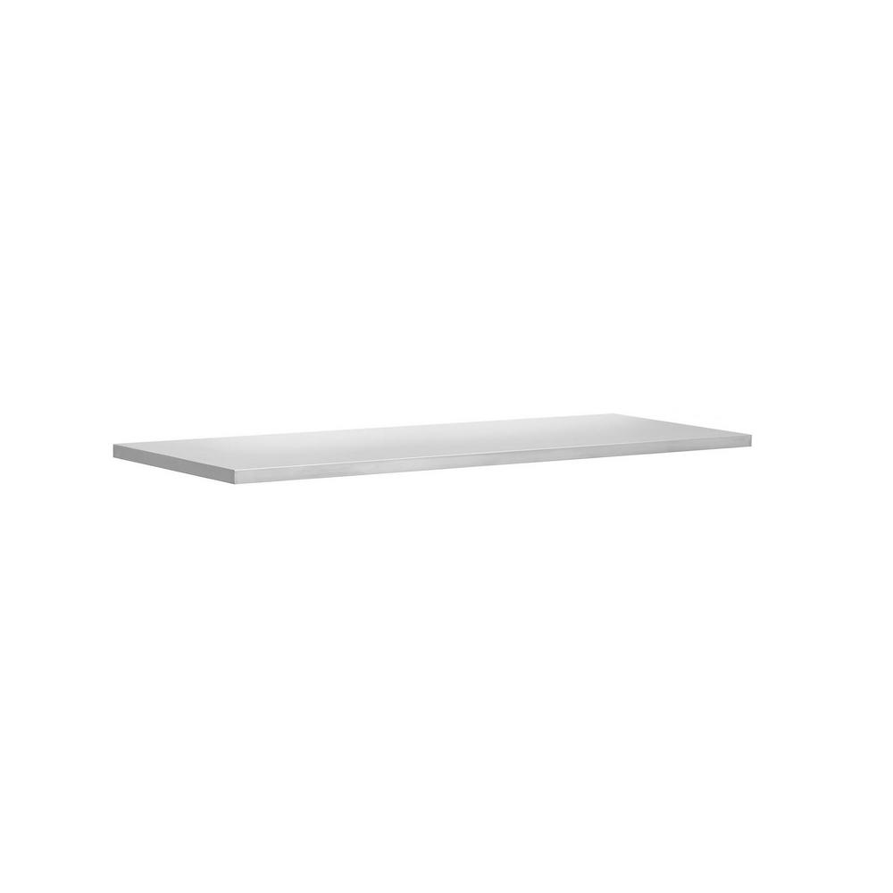 NewAge Products Bold and Performance Series 72 in. W x 1 in. H x 18 in. D Stainless Steel Worktop
