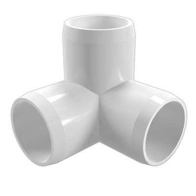 2 in. Furniture Grade PVC 3-Way Elbow in White (4-Pack)