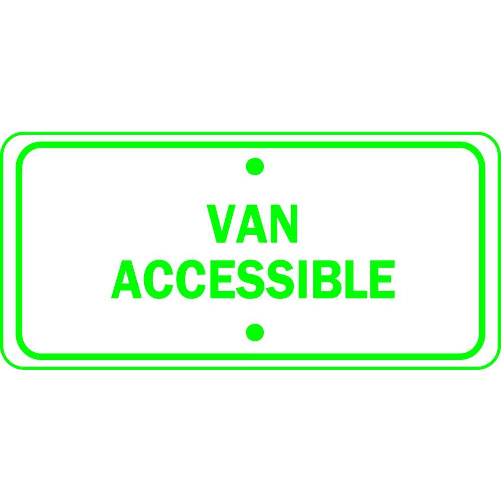 6 in. x 12 in. Van Accessible Handicapped Sign