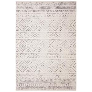 Tulum Ivory/Gray 6 ft. x 9 ft. Area Rug