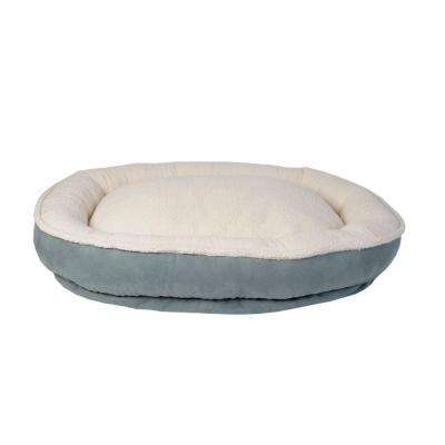 Cloud Sherpa & Faux Suede Comfy Cup Large Spa Blue Bed