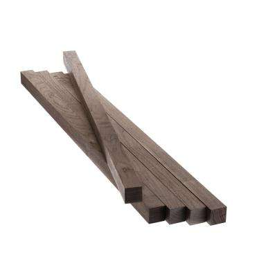 1.5 in. x 1.5 in. x 36 in. Walnut S4S (5 pack)