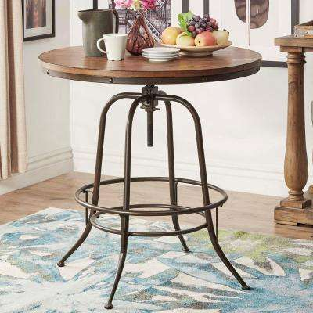 Olson Brown Adjustable Pub/Bar Table