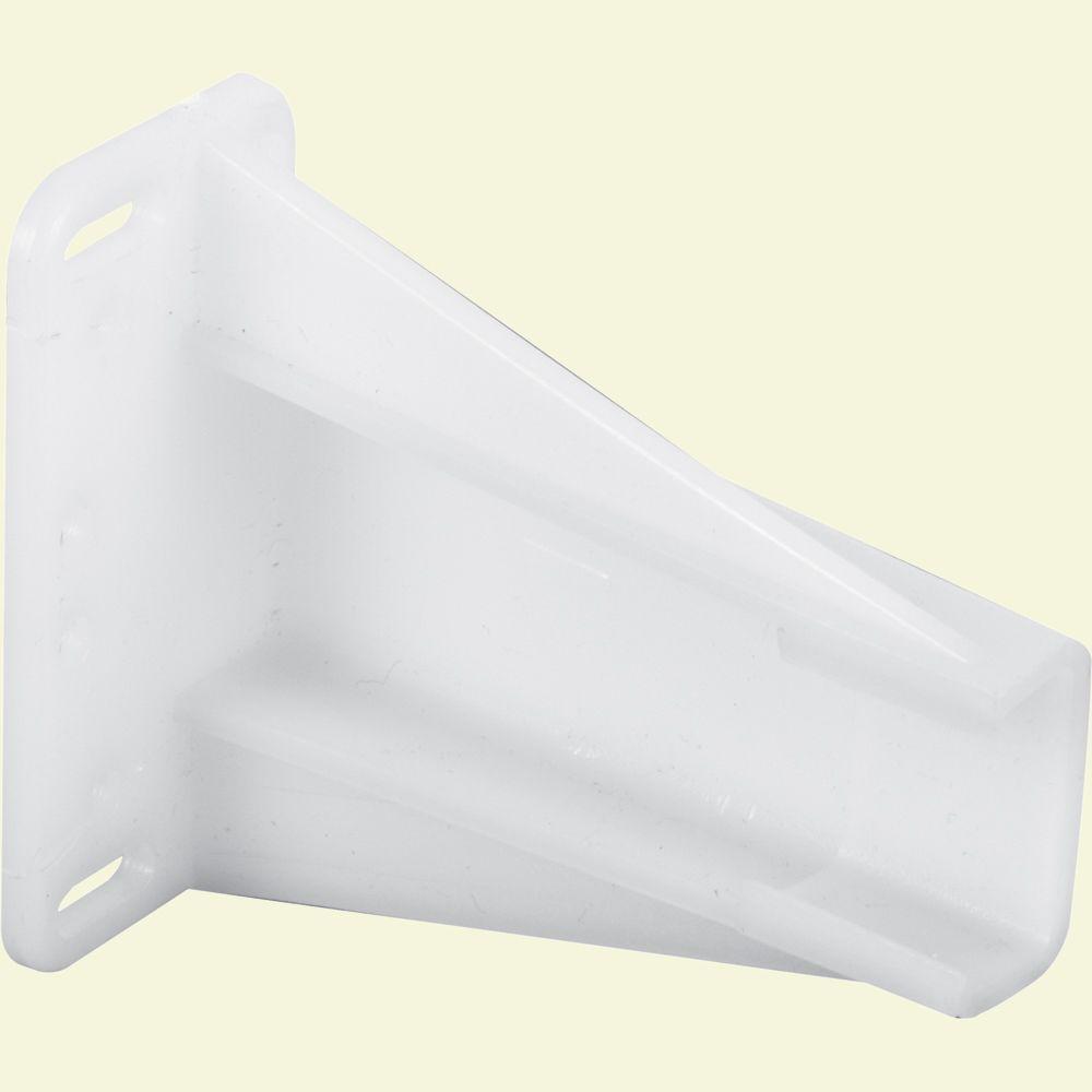 Drawer Side Track Brackets, White Nylon (1-pair)