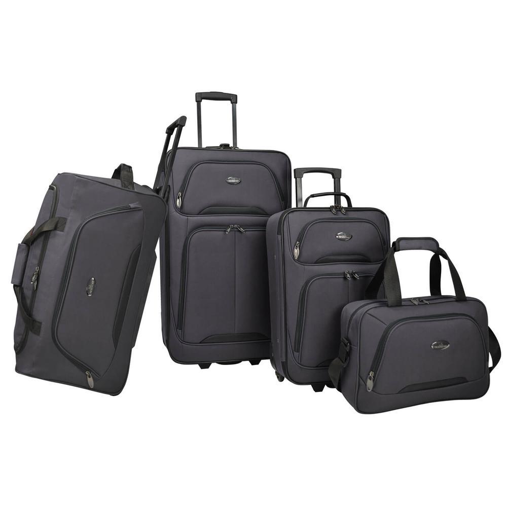 US Traveler U.S Traveler Vineyard 4-Piece Softside Luggag...