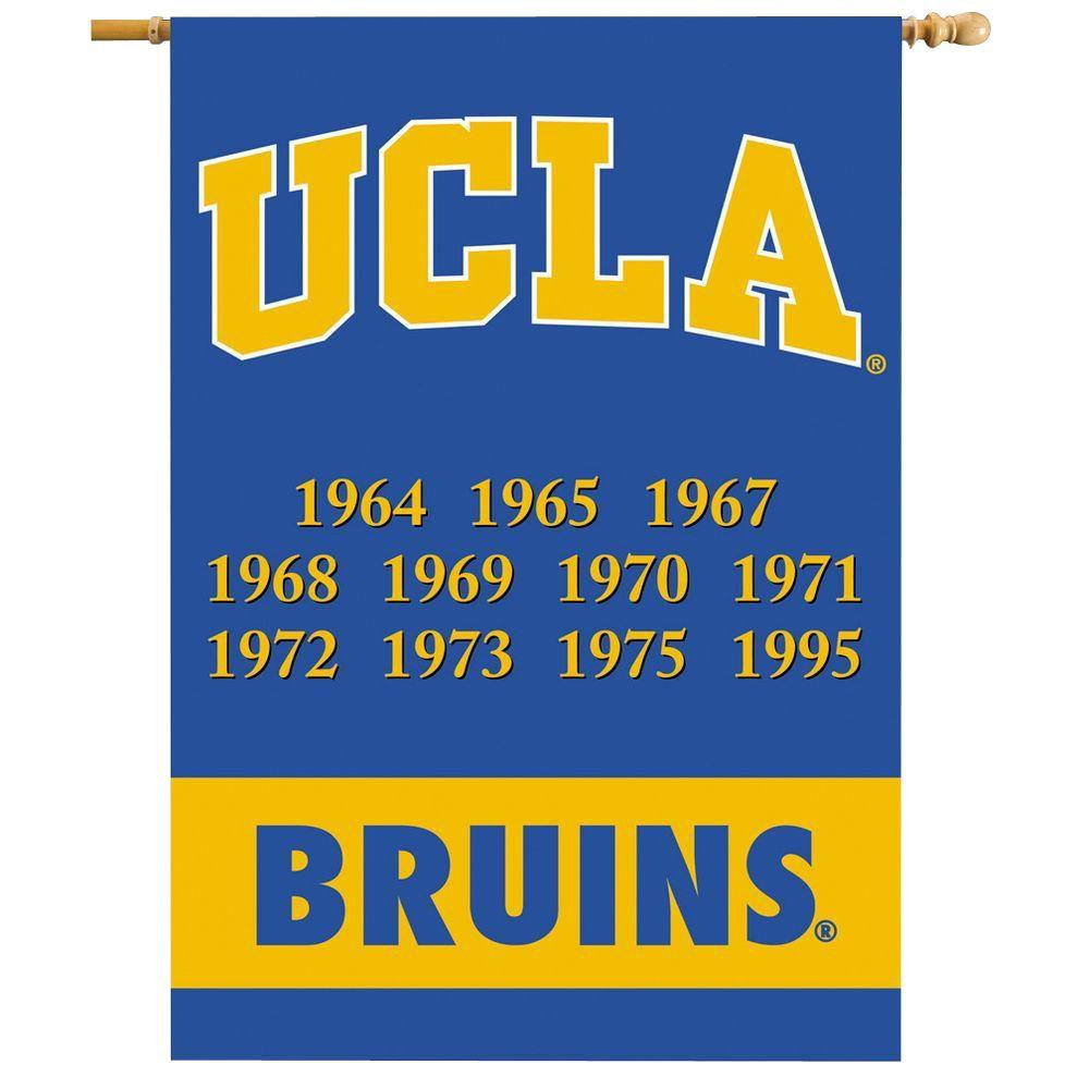 BSI Products NCAA 28 in. x 40 in. UCLA Champ Years 2-Sided Banner with Pole Sleeve