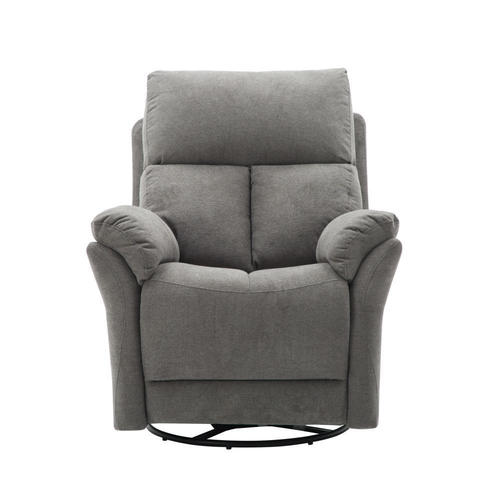 Turlock Grey Upholstered Recliner Chai