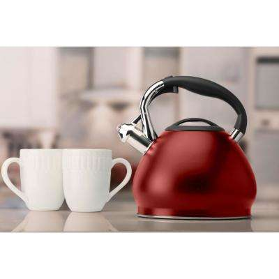 Red Kitchen Details 10-Cup Stainless Steel Tea Kettle