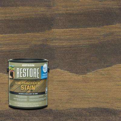 1 gal. Semi-Transparent Stain Teak with NeverWet