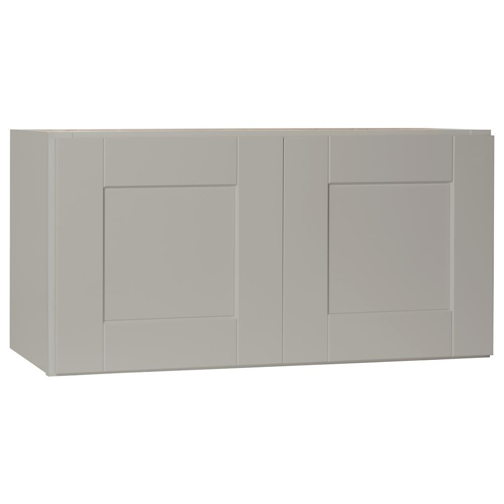 Shaker Assembled 30x15x12 in. Wall Bridge Kitchen Cabinet in Dove Gray