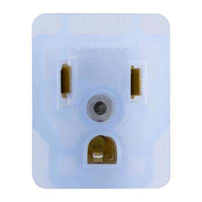 Single Grounded Outlet Adapter with Power Indicator Light, Clear