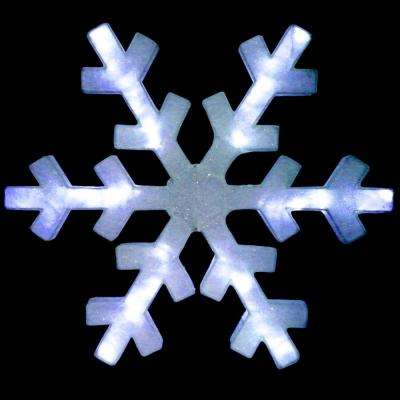 60 in. Snowflake Decoration with LED Lights
