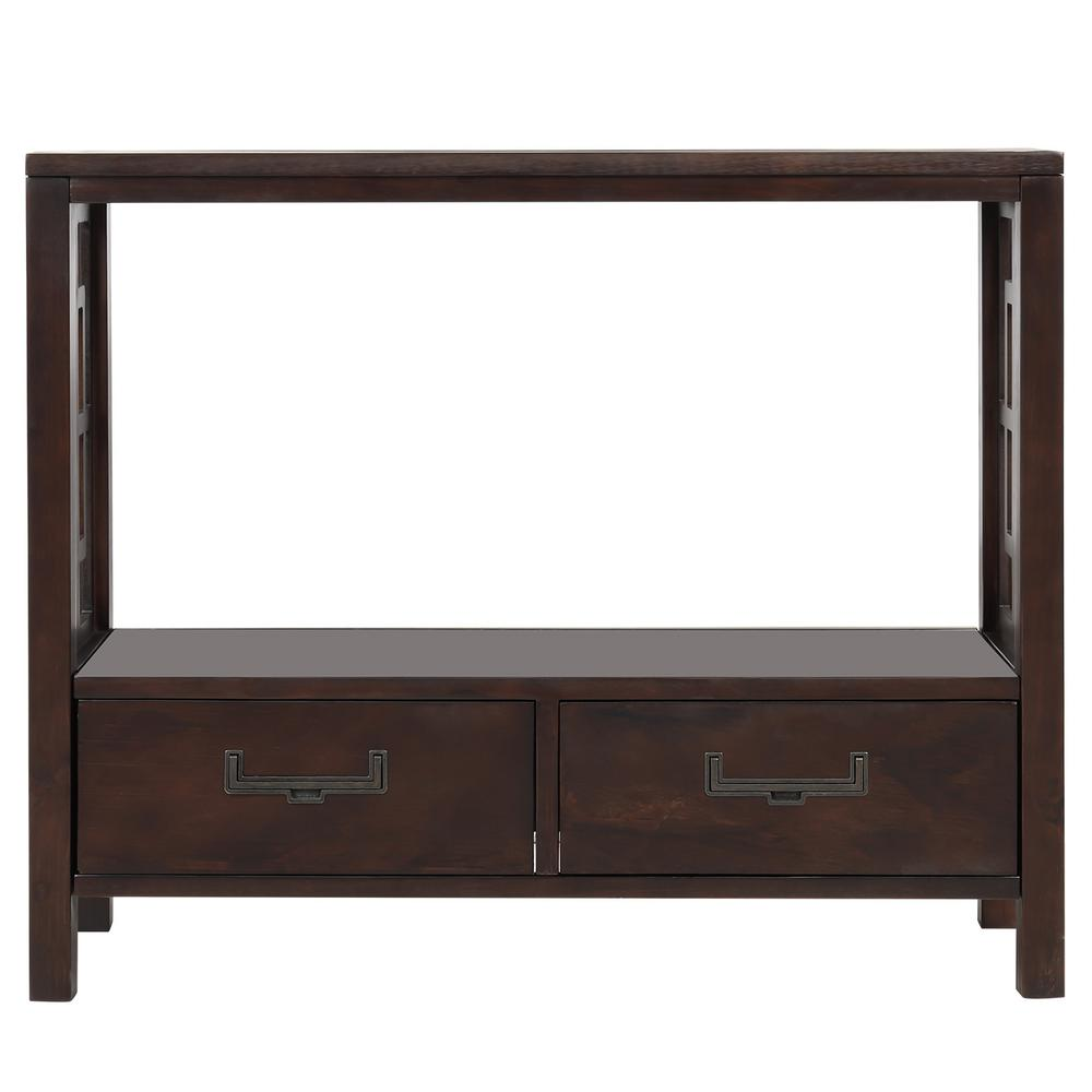 Harper & Bright Designs 30 in. Espresso with 2-Bottom Drawers Console Table, Brown was $354.99 now $198.75 (44.0% off)