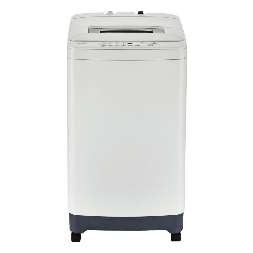 portable top load washer in white