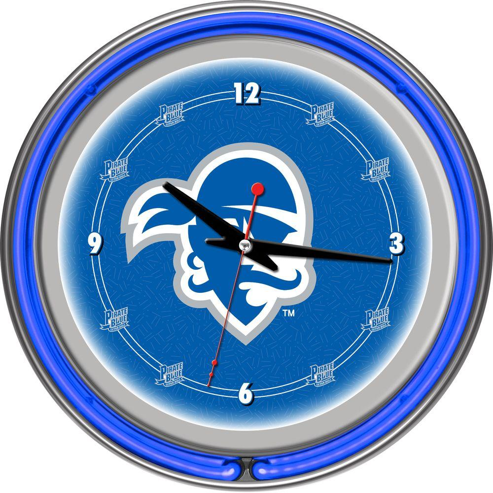Trademark 14 in. Seton Hall University Neon Wall Clock