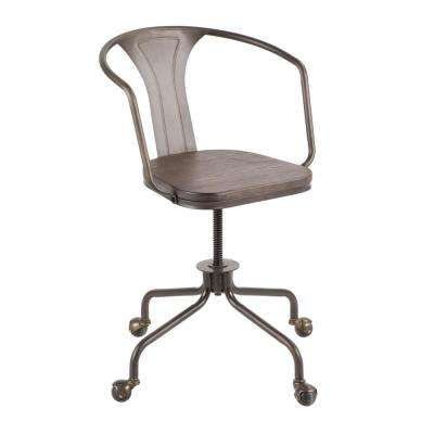 Oregon Antique And Espresso Adjule Task Chair