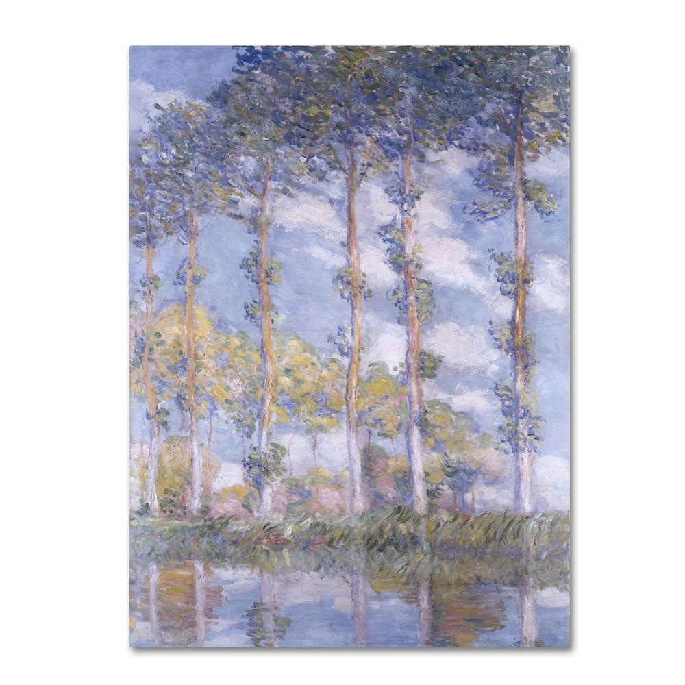 null 18 in. x 32 in. The Poplars Canvas Art