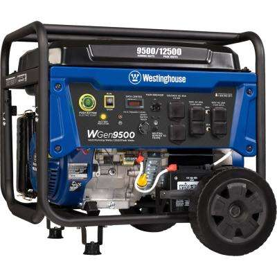 9500-Watt Heavy-Duty Gas Powered Transfer Switch Ready Portable Generator with Electric and Remote Start