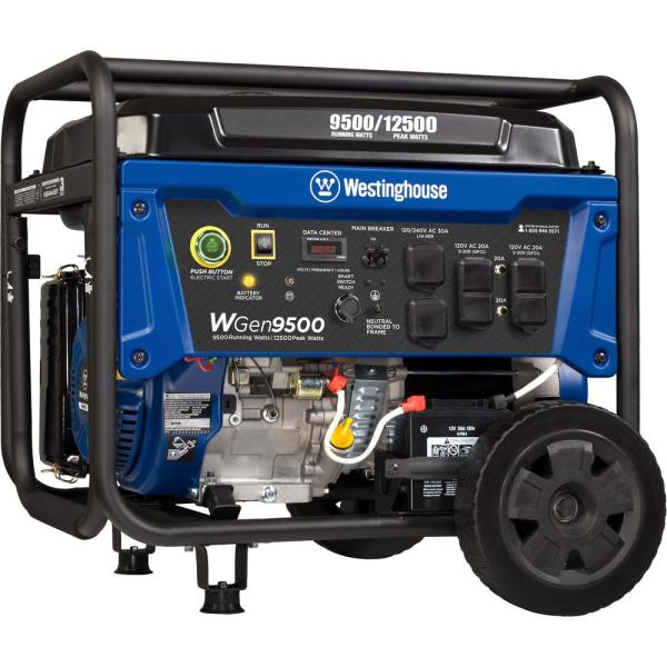 Westinghouse WGen9500 Heavy Duty Gas Powered Portable Generator with Electric and Remote Start