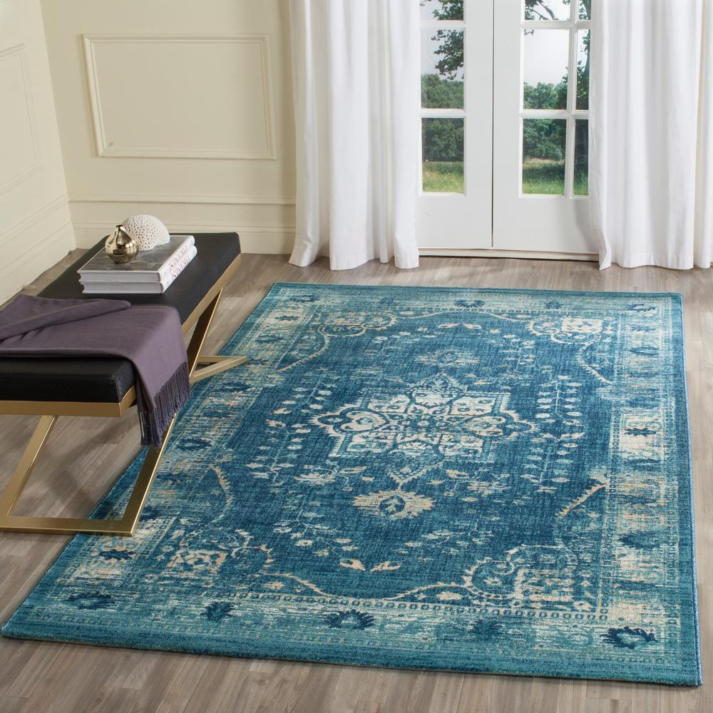 Evoke Navy Gold 9 Ft X 12 Area Rug