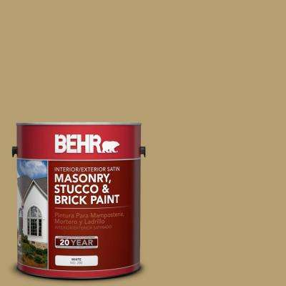 1 gal. #SC-145 Desert Sand Satin Interior/Exterior Masonry, Stucco and Brick Paint