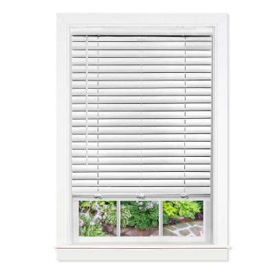 39 in. W x 64 in. L GII Luna White Cordless Venetian Blind
