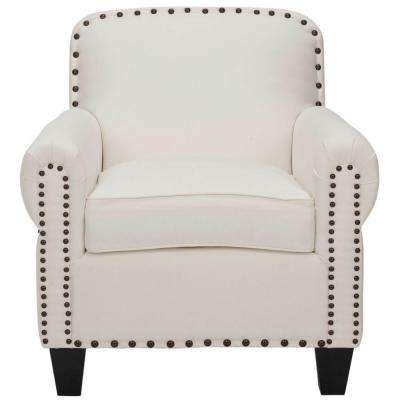 Abigail White Cotton Club Arm Chair