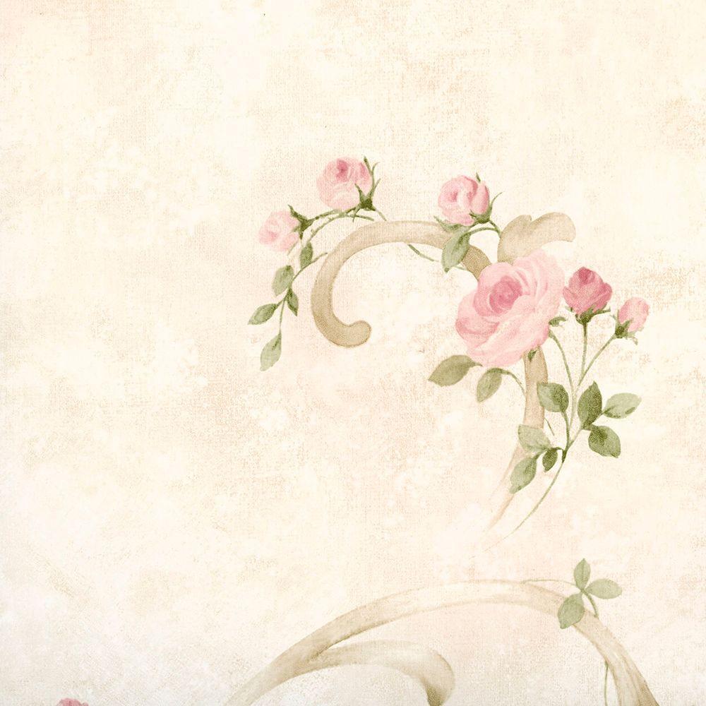 Escot Blush Tearose Acanthus Wallpaper