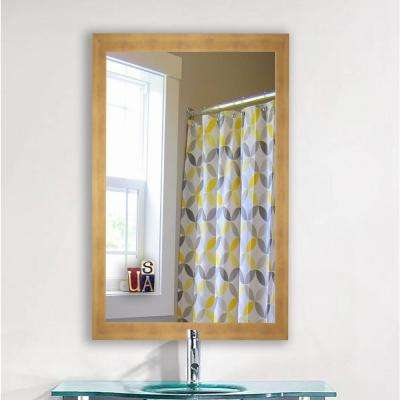 40 in. x 30 in. Hushed Golden Sunset Mirror