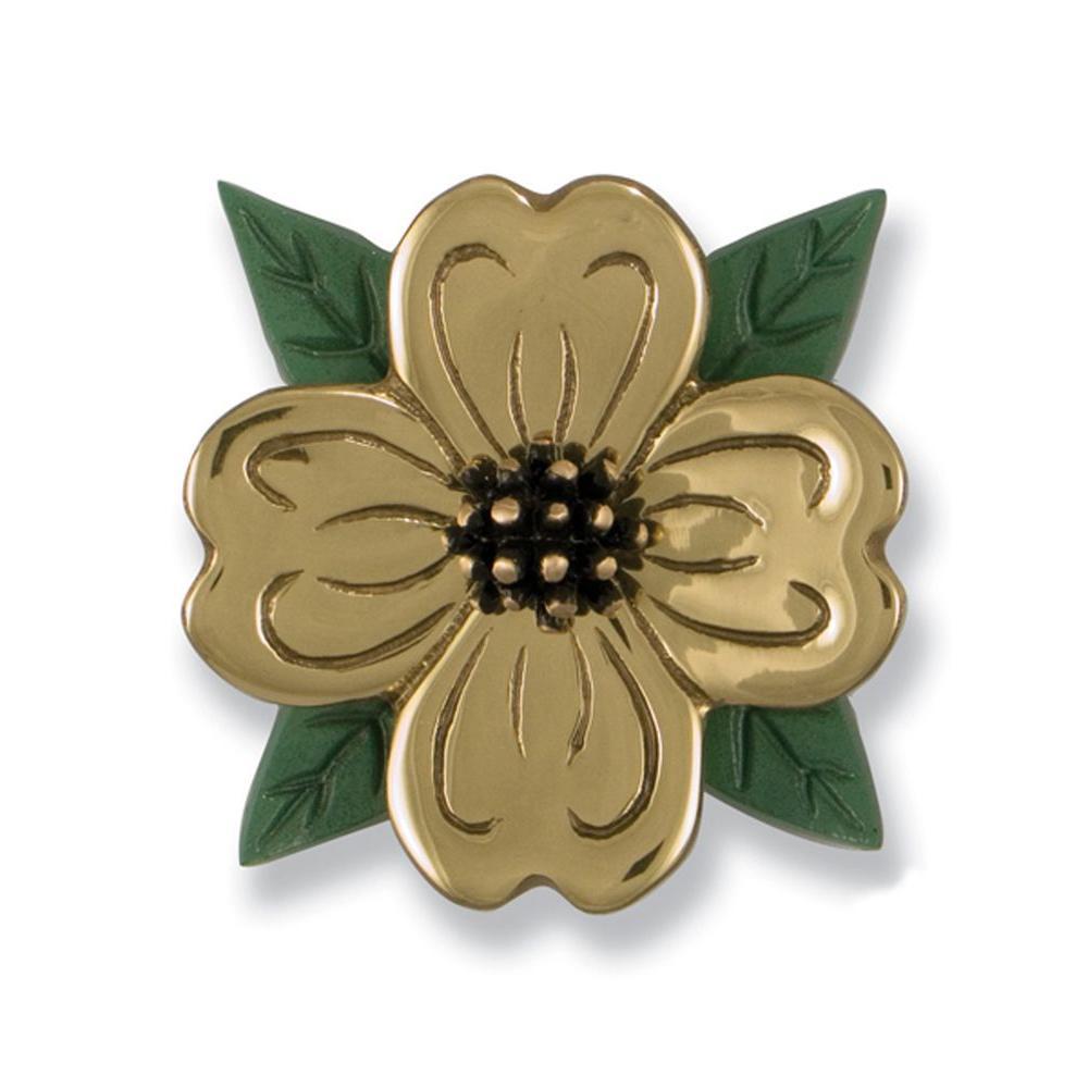 Michael Healy Solid Brass/Bronze Dogwood Door Knocker-DISCONTINUED