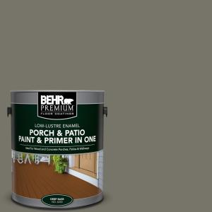 BEHR Premium 1 gal. #BXC-44 Pepper Mill Low-Lustre Interior/Exterior Paint and Primer In One Porch and Patio Floor Paint by BEHR Premium