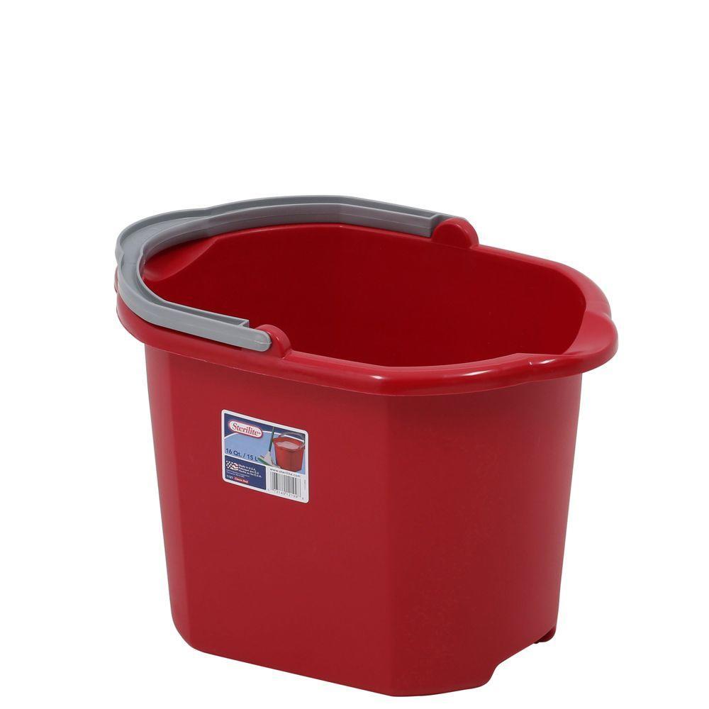 sterilite 16 qt. double spout pail-11215806 - the home depot