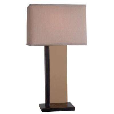 H Oil-Rubbed Bronze Table Lamp - Rectangular - Bronze - Table Lamps - Lamps - The Home Depot