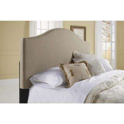 All-in-1 Beige Queen Upholstered Bed