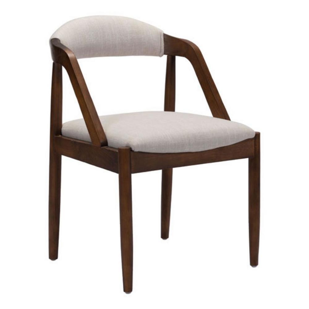 Julia Beige Linen Dining Chair (Set of  1)