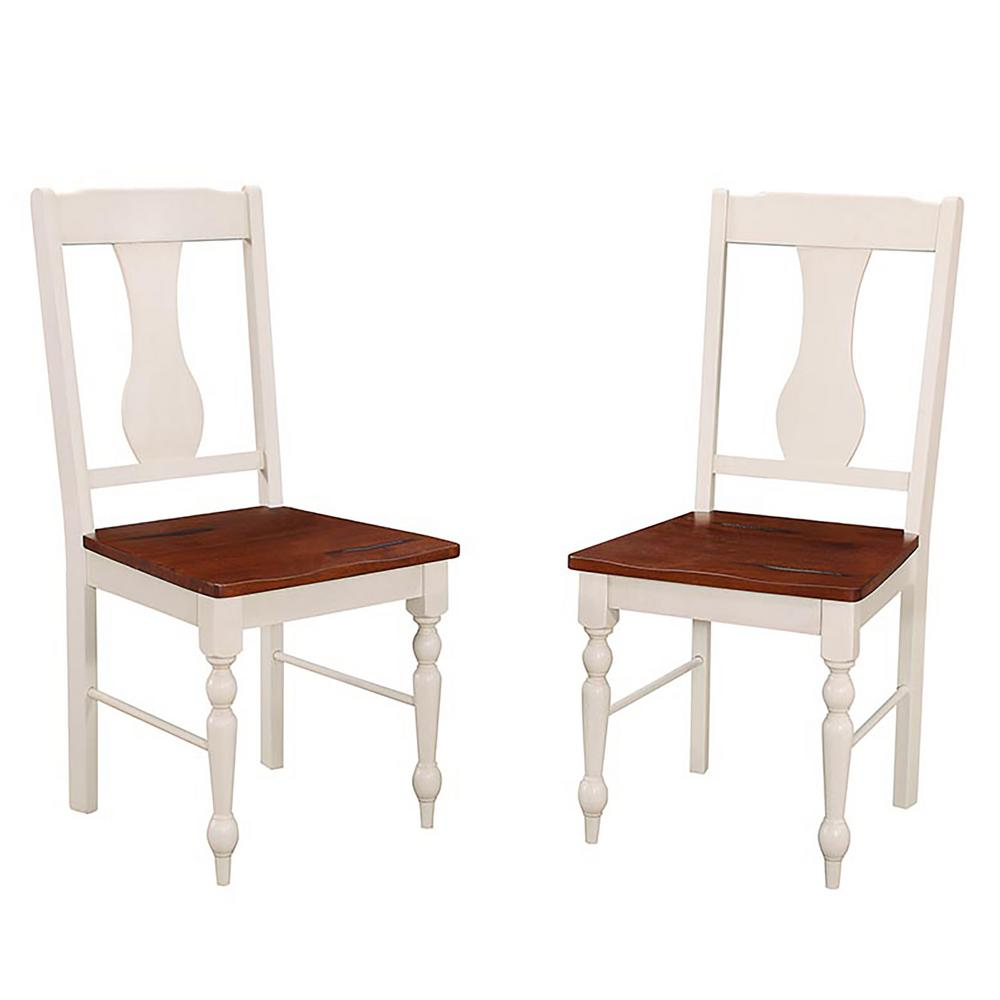 Walker edison furniture company brown and white wood for White chair dining set
